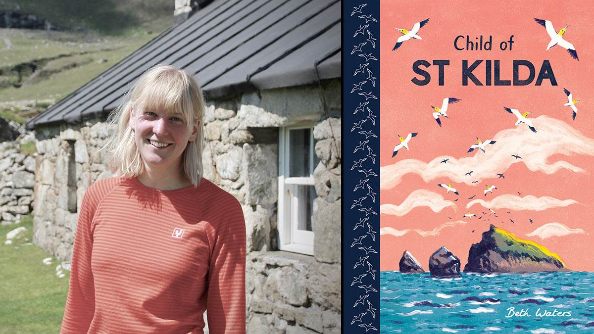 Beth Waters and her book Child of St Kilda