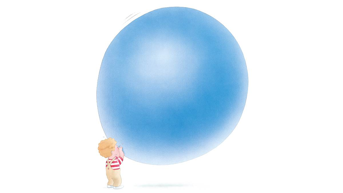 An illustration from The Blue Balloon