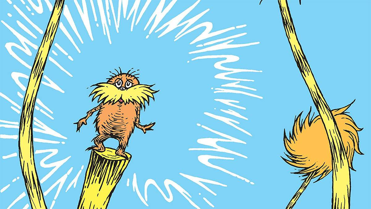 Illustration from The Lorax by Dr Seuss