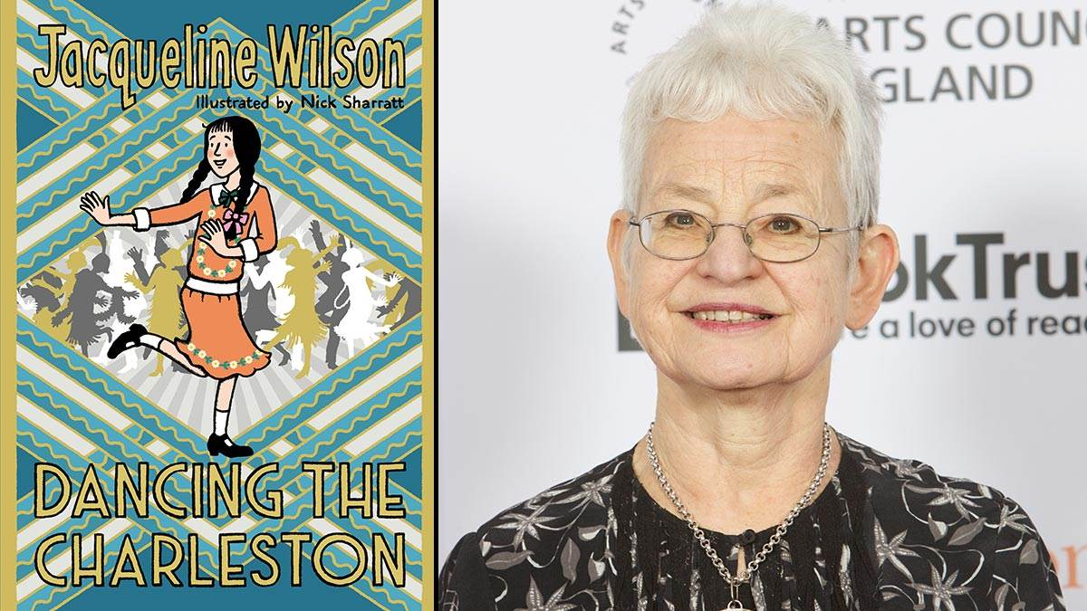 The front cover of Dancing the Charleston and Jacqueline Wilson