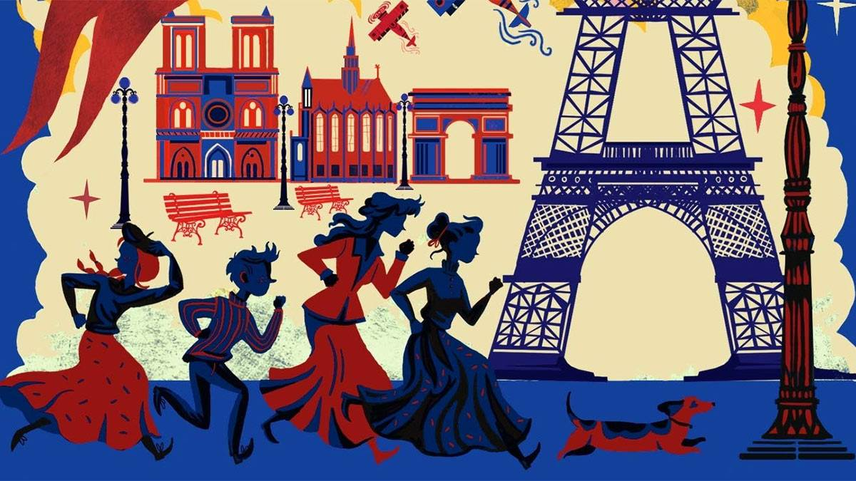 The front cover of Peril in Paris
