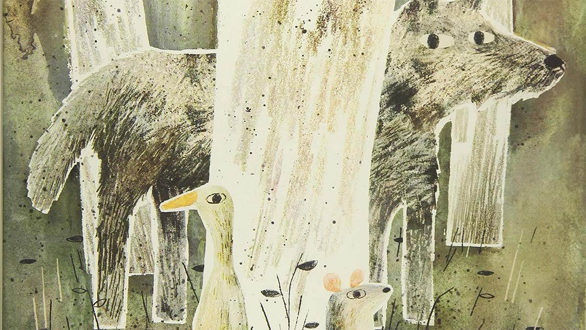 The front cover of The Wolf, The Duck and the Mouse