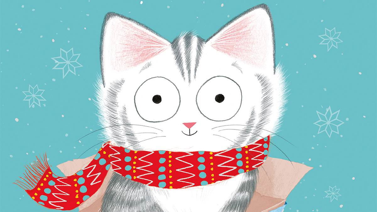 The front cover of Sammy Claws, the Christmas Cat