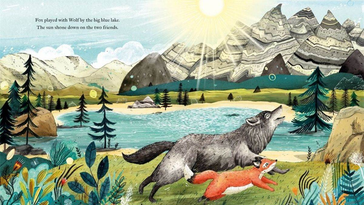 Illustration from Waiting for Wolf by Sandra Dieckmann