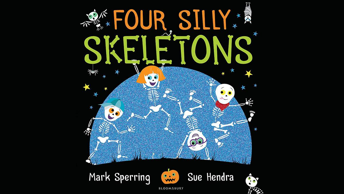 The front cover of Four Silly Skeletons