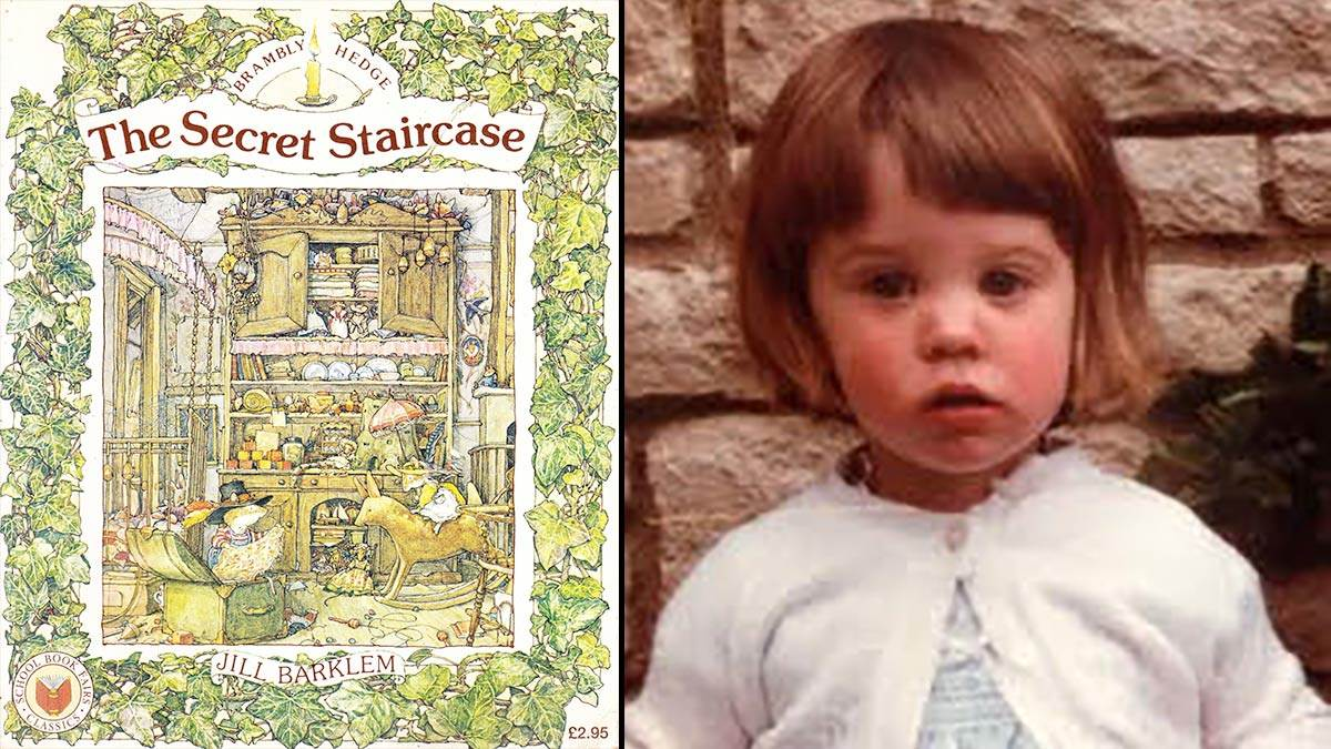 The front cover of The Secret Staircase and author Catherine Rayner