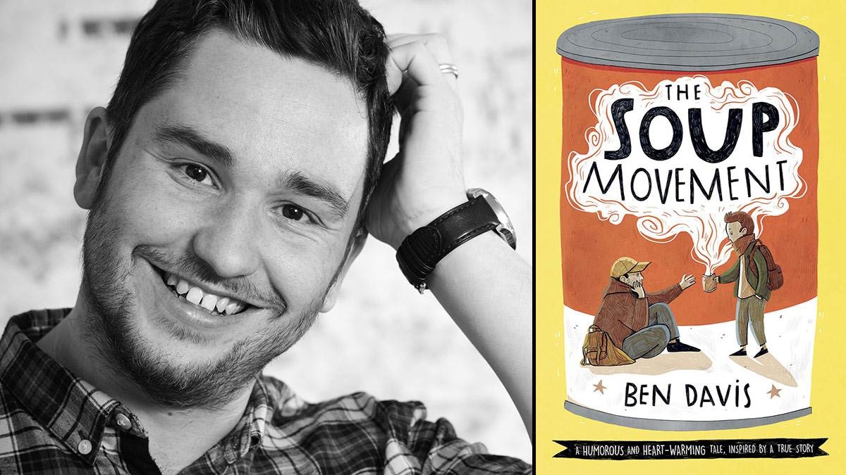 Author Ben Davis and the front cover of The Soup Movement