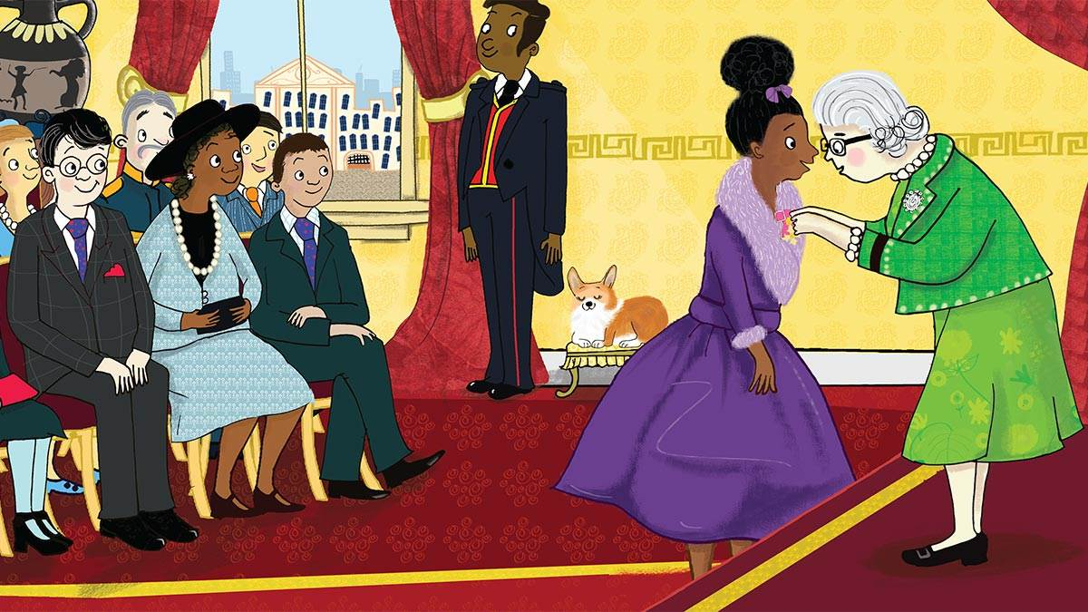 Illustration from Coming to England by Floella Benjamin and Diane Ewen