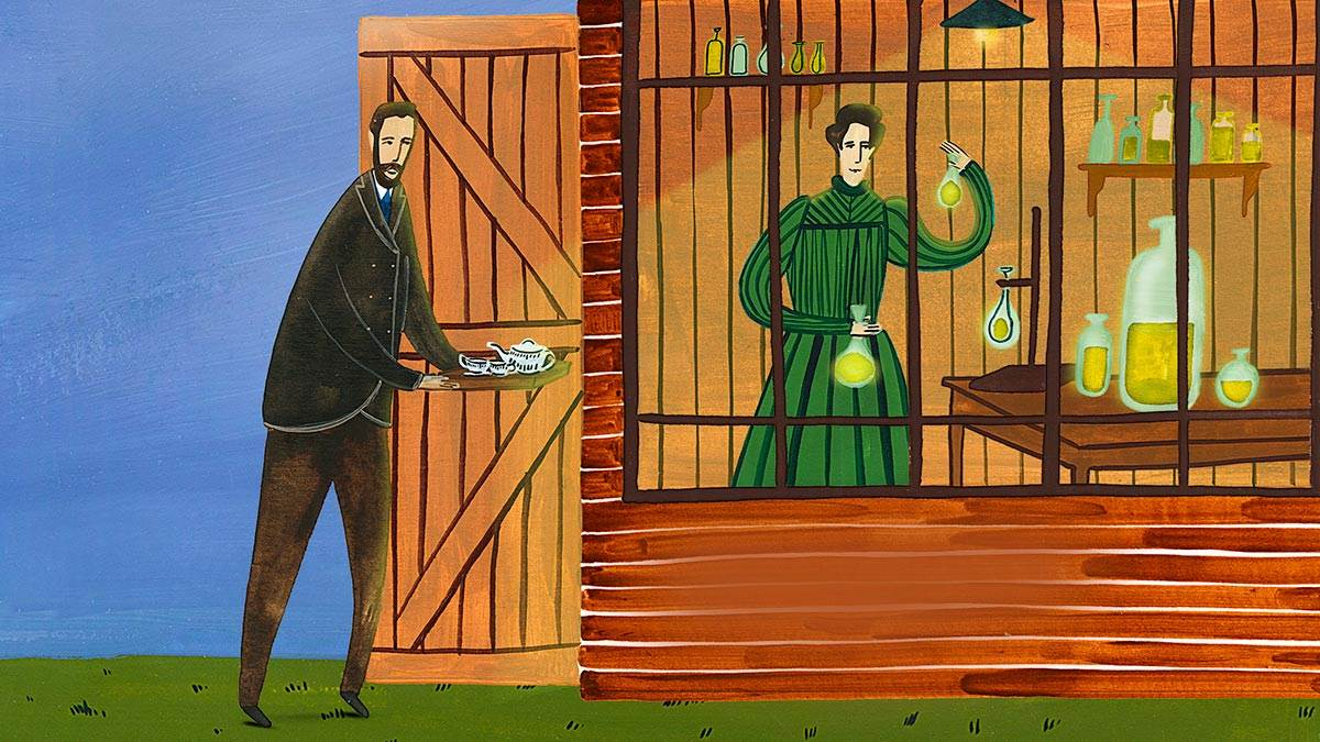 An illustration of Marie Curie