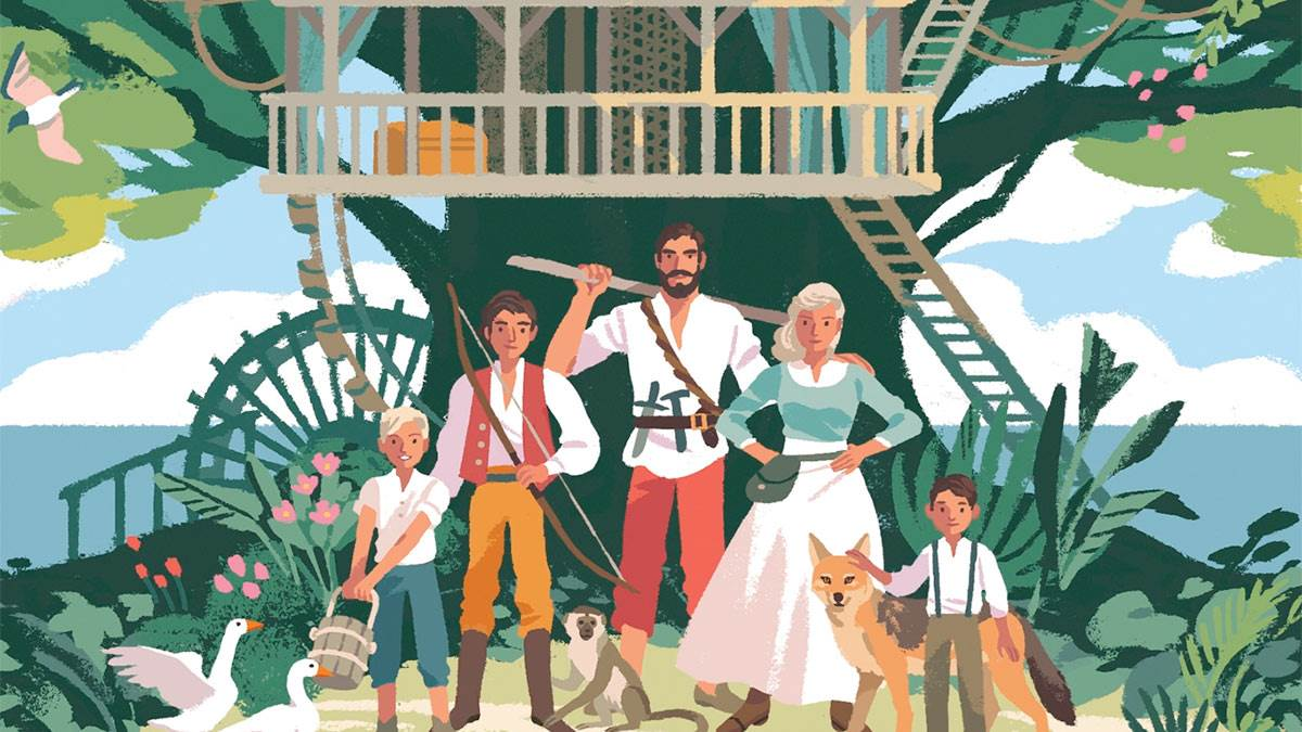 The front cover of The Swiss Family Robinson