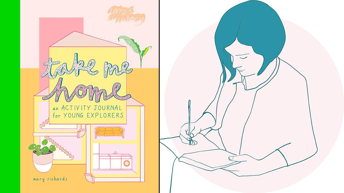 The front cover of Take Me Home and an illustration of author Mary Richards