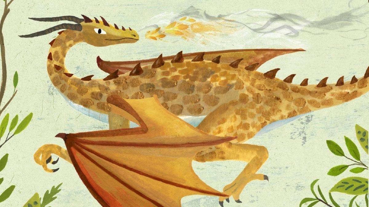 Illustration from Darwin's Dragons by Lindsay Galvin