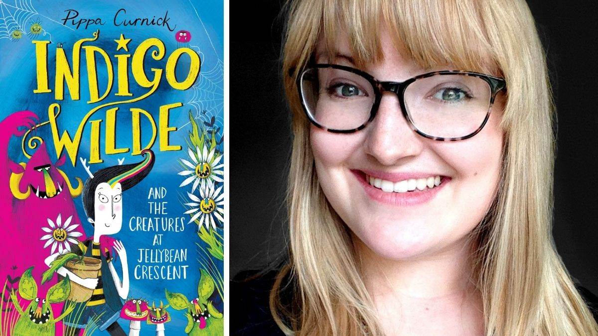 Author Pippa Curnick and her book, Indigo Wilde and the Creatures at Jelly Bean Crescent