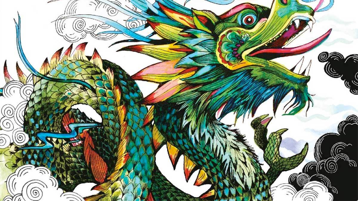 A dragon on the front cover of Myth Match