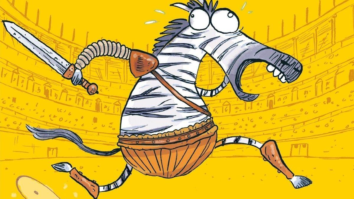 Illustration from Julius Zebra: Rumble With The Romans