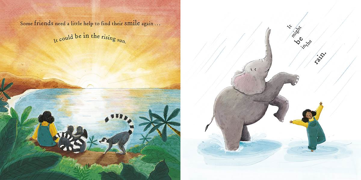 A spread from How to Mend a Friend