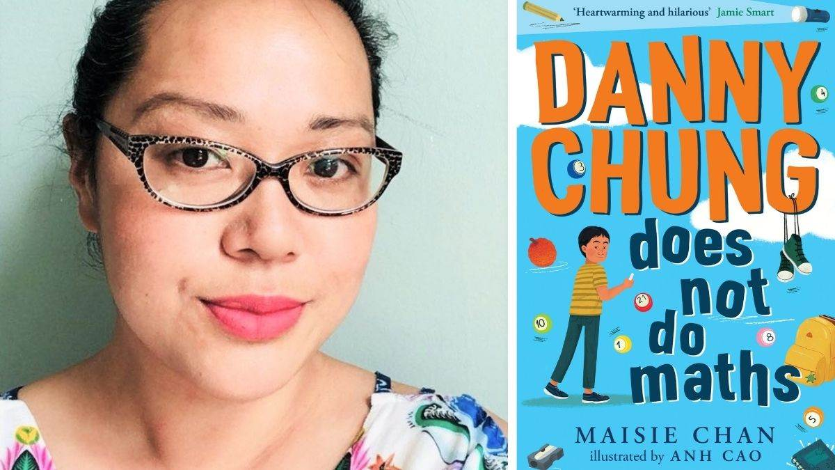 Maisie Chan and the cover of Danny Chung Does Not Do Maths