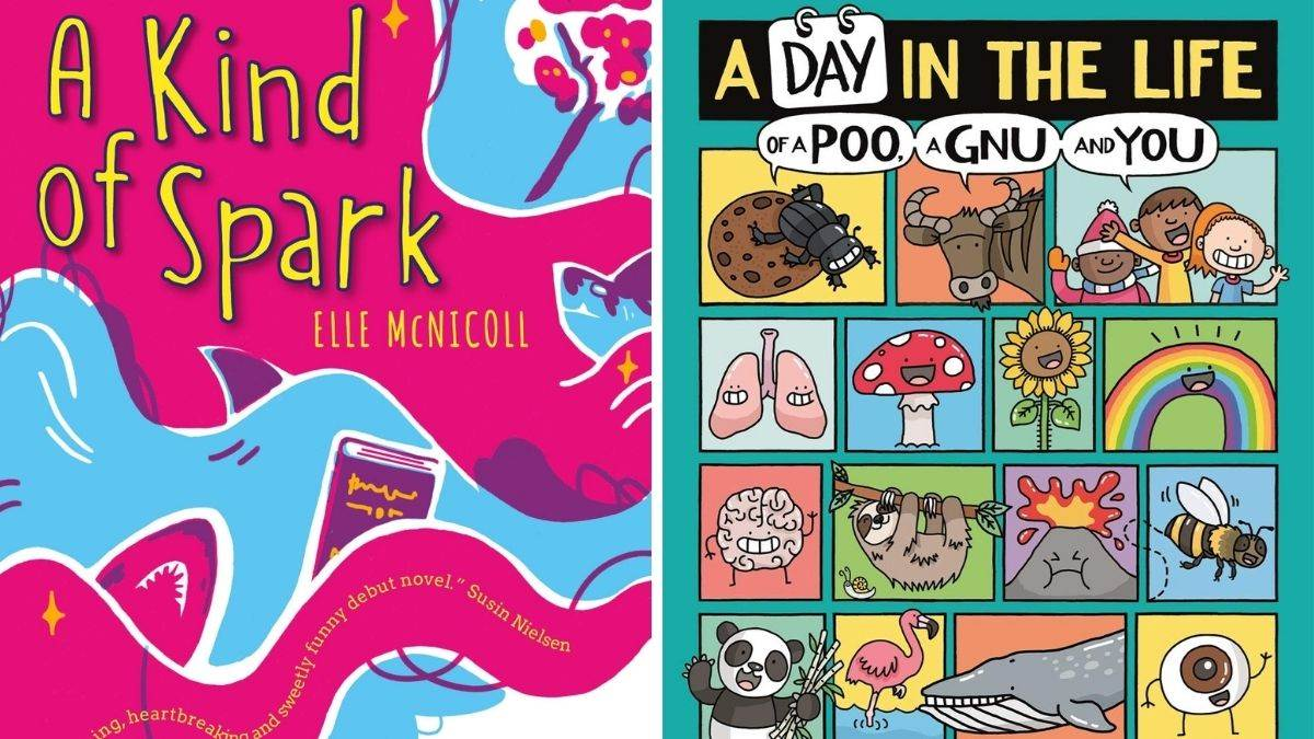 The 2021 Blue Peter Book Awards winner, A Kind of Spark and A Day In The Life Of A Poo, A Gnu And You