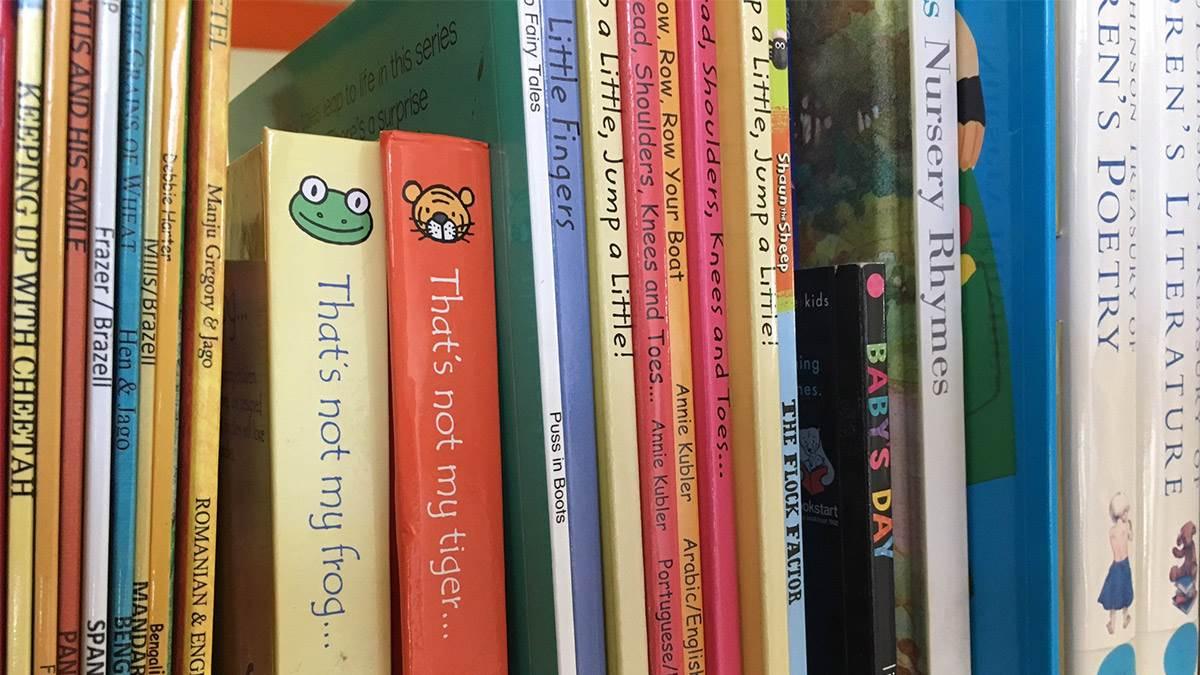 BookTrust library shelf
