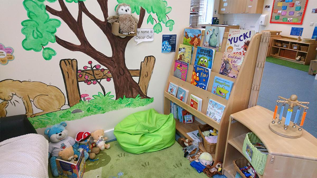 Jessica Lanham's Bookstart Corner area for families