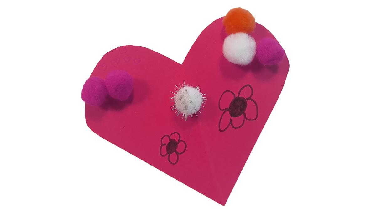 Flamingo craft decorated heart