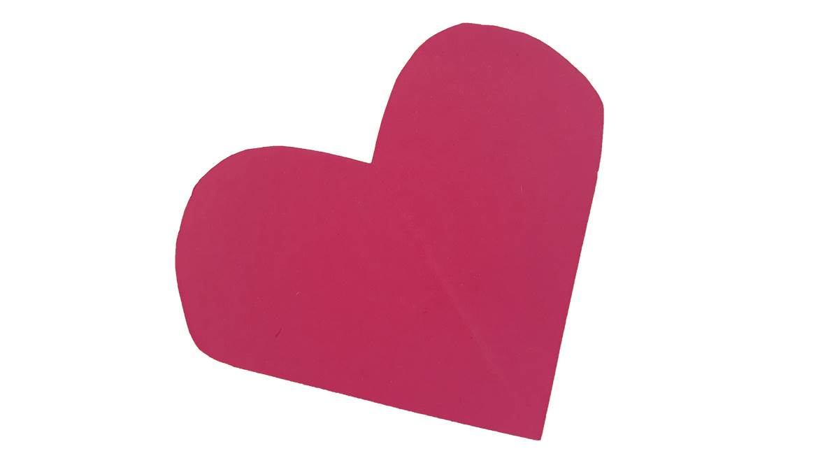 Flamingo craft heart