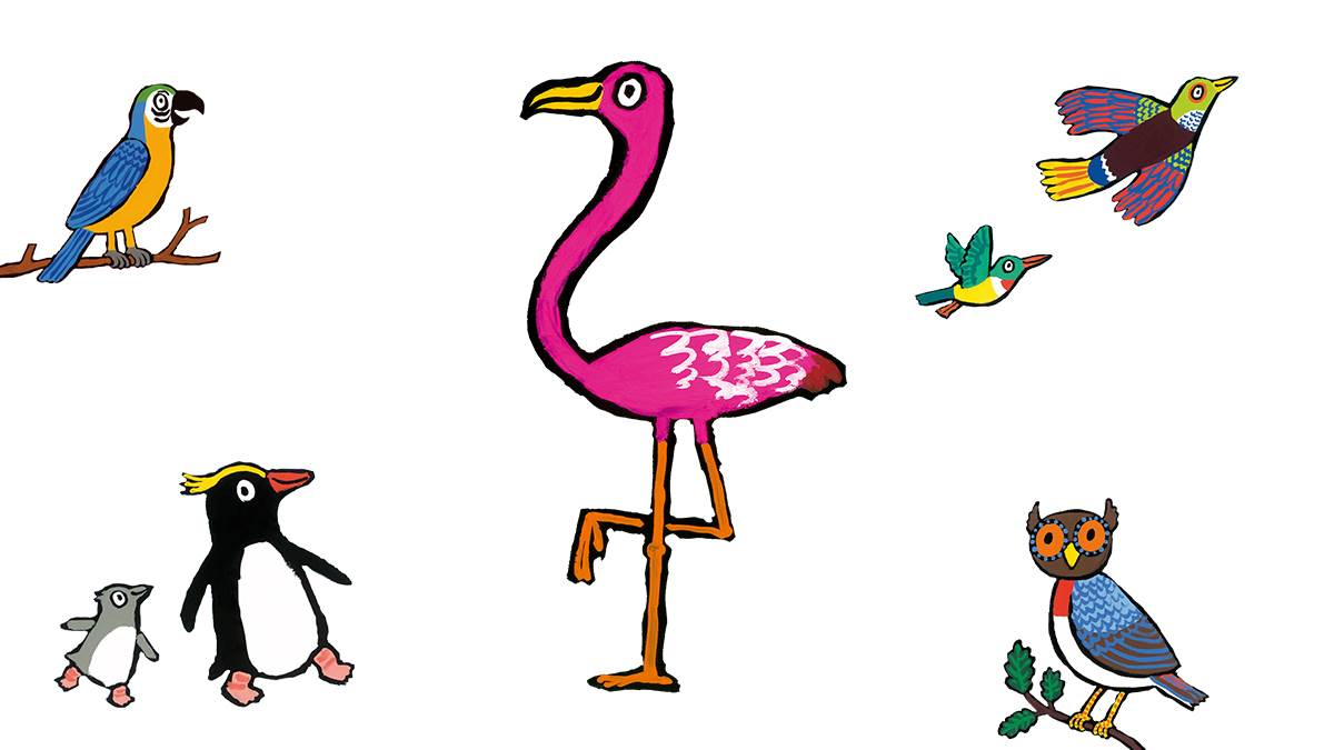 Illustrations from A Busy Day for Birds