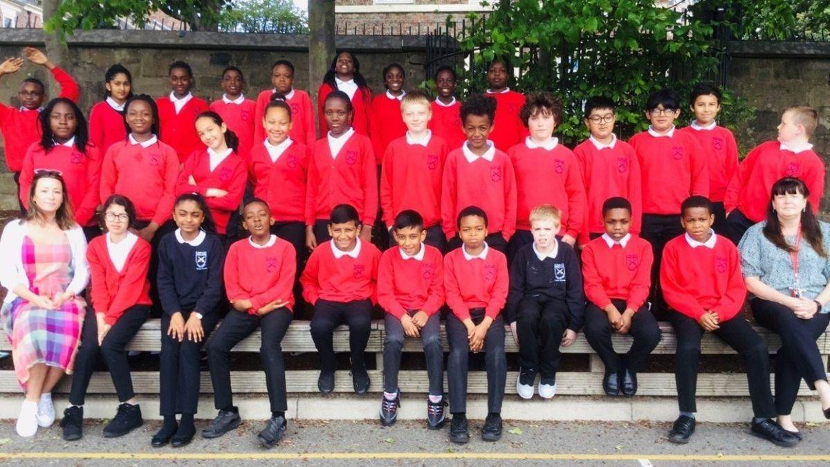Pupils at St Paul's C of E Primary School in Newcastle