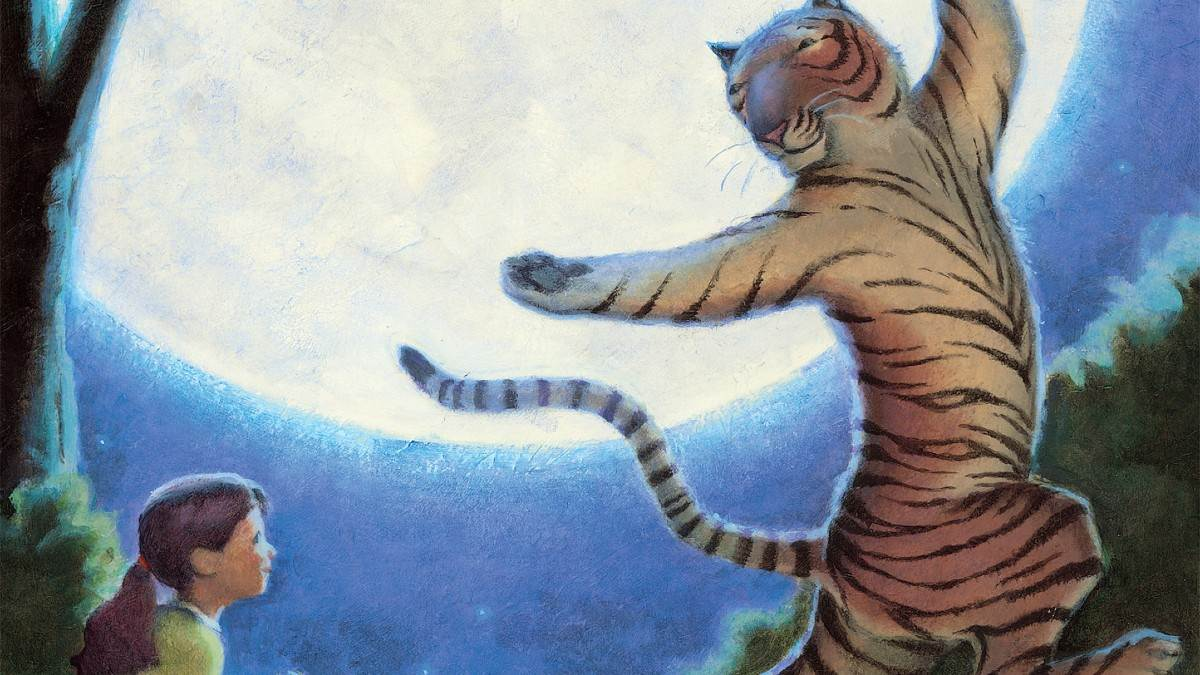 The front cover of The Dancing Tiger