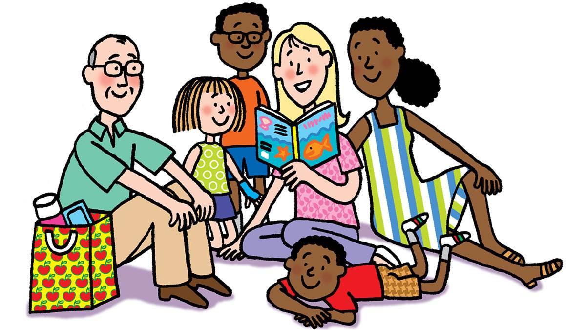 Family Picnic illustration by Nick Sharratt