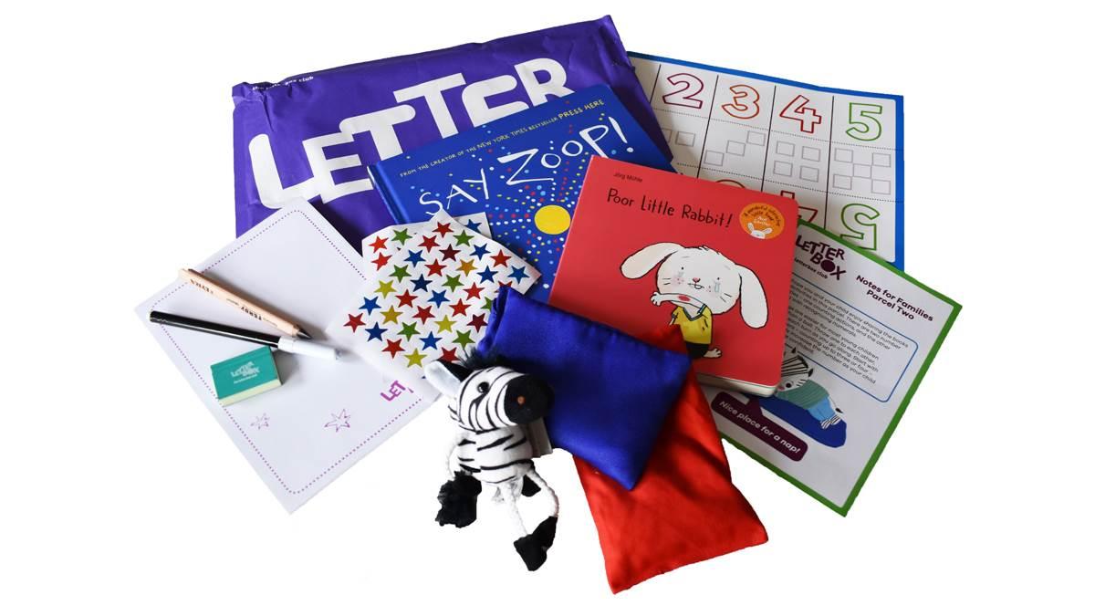 Example Letterbox purple parcel contents