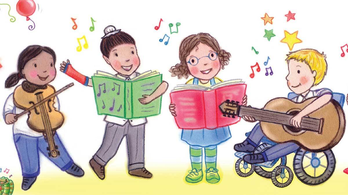 Children rhyming illustration