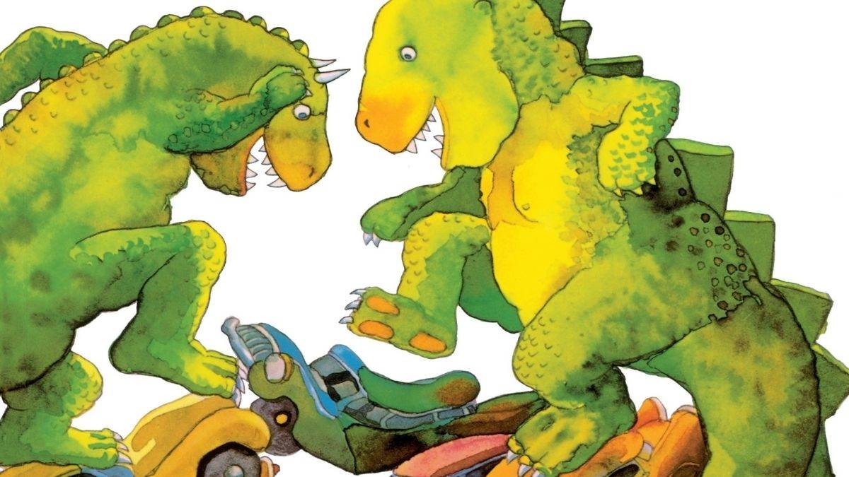 The cover of Dinosaurs and All That Rubbish by Michael Foreman