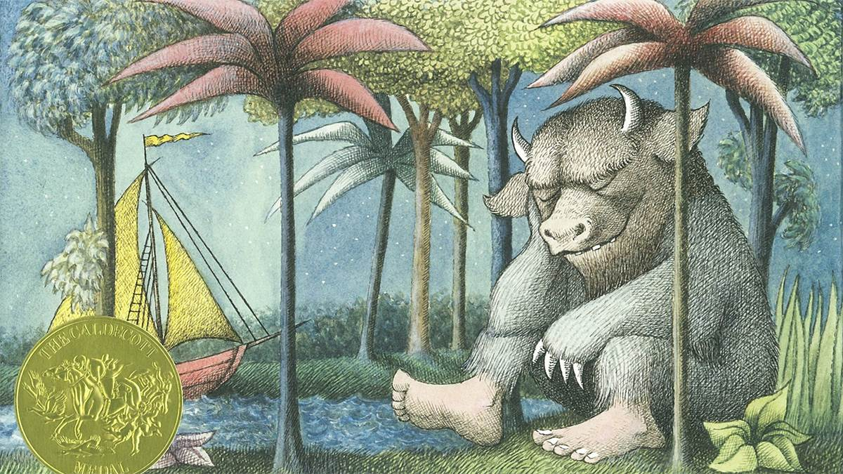 Illustration from Where The Wild Things Are by Maurice Sendak