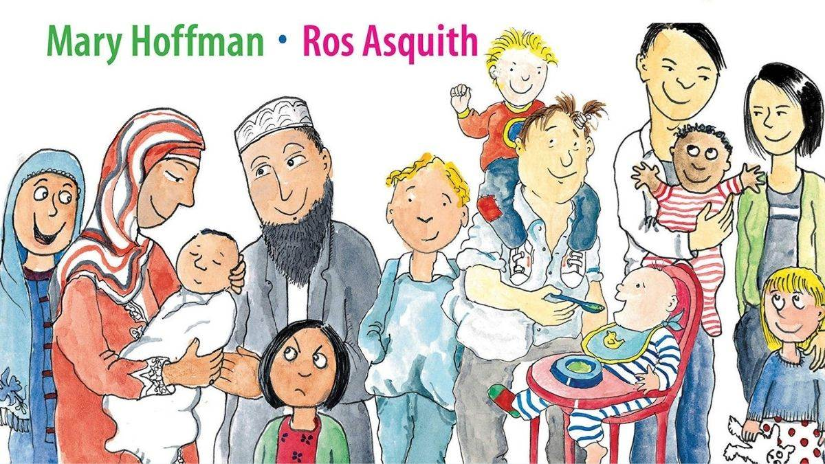 Illustration: The Great Big Book of Families by Mary Hoffman and Ros Aquith