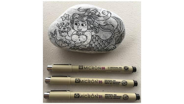 Sarah McIntyre's pebble and pens