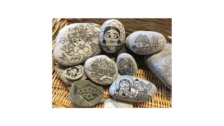 Sarah McIntyre's pebbles