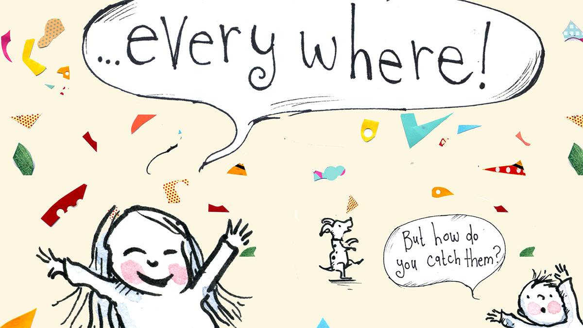 Crop from Ideas Everywhere illustration by Polly Dunbar